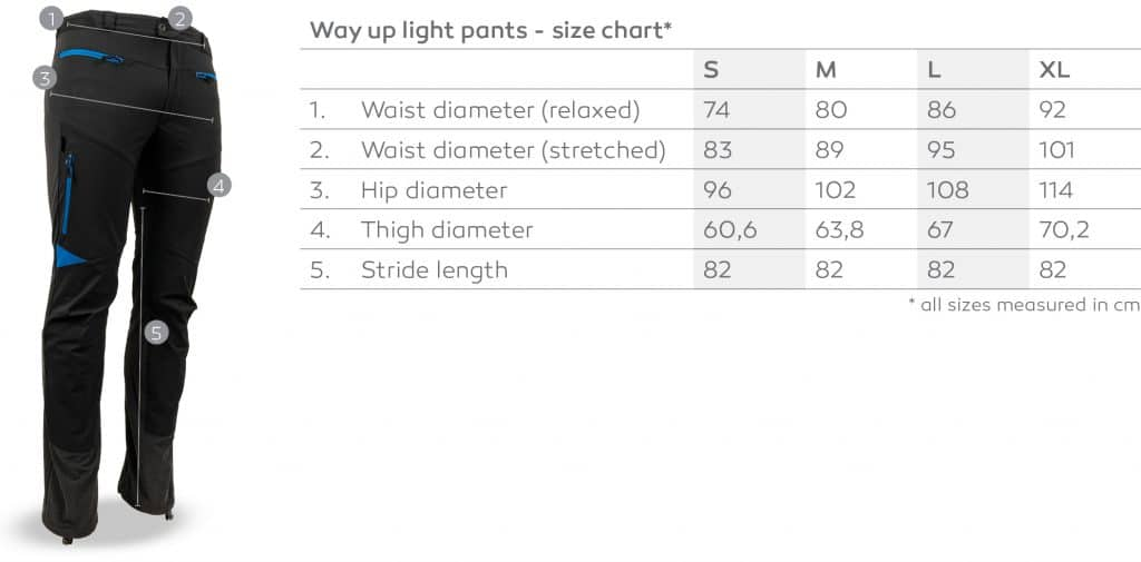 Way-up-light_Size-chart
